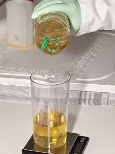 Aceite esencial de bergamota, bote de cristal