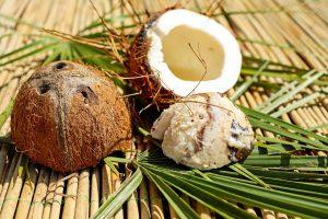 Aceite esencial de coco, fruta coco